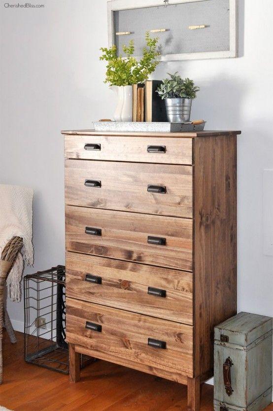 IKEA Tarva Dresser In Home Decor: 35 Cool Ideas |  Ikea tarva.