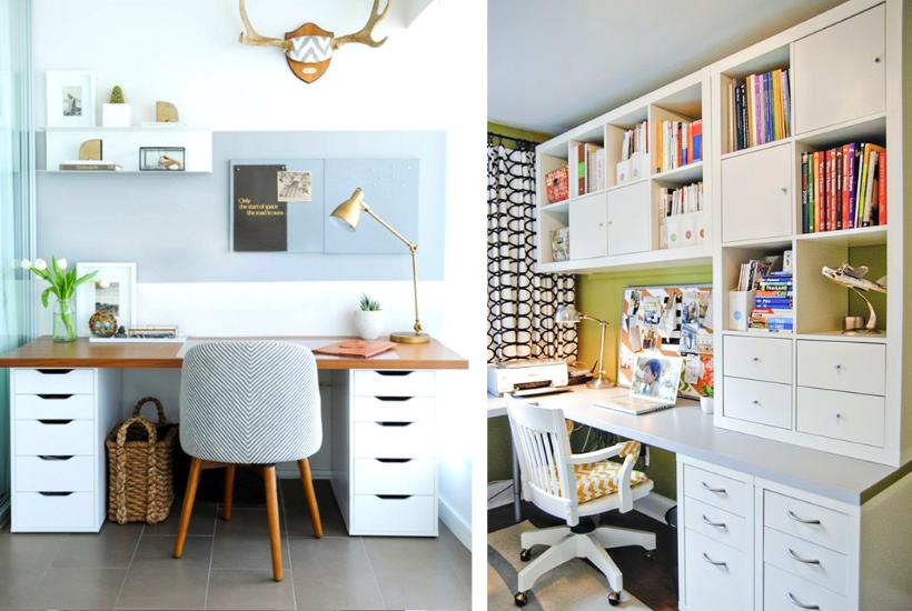 21 Häpnadsväckande inspirerande Ikea-skrivbordshackar som är överkomliga och Ea