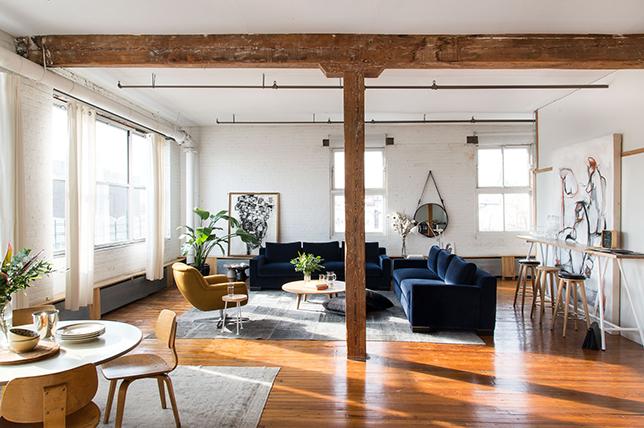 8 sätt att utforma ett rustikt industriellt vardagsrum |  Dekor A
