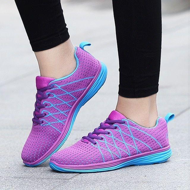 Joggingskor för damer utomhus dam löparskor flickor ljus.