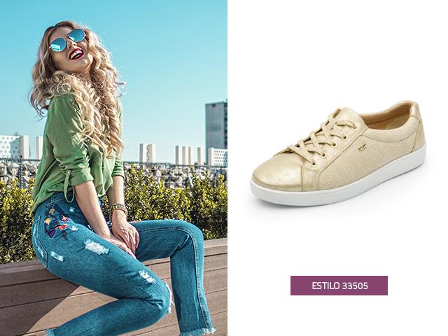 Hur man kombinerar dina gyllene skor?  Topp 3 kläder - modesko.