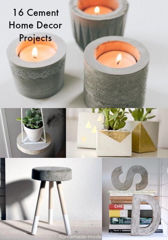 16 konkreta DIY-projekt för heminredning    Konkreta DIY-projekt.