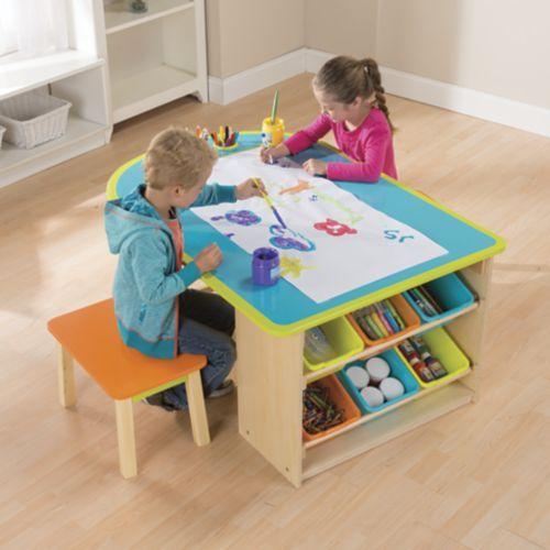 Kids Deluxe Art Table    Barnhantverksbord, Konst för barn, Hantverk.