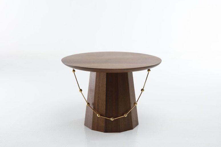Yang Ban sidobord inspirerade av koreanska traditionella hattar - DigsDi