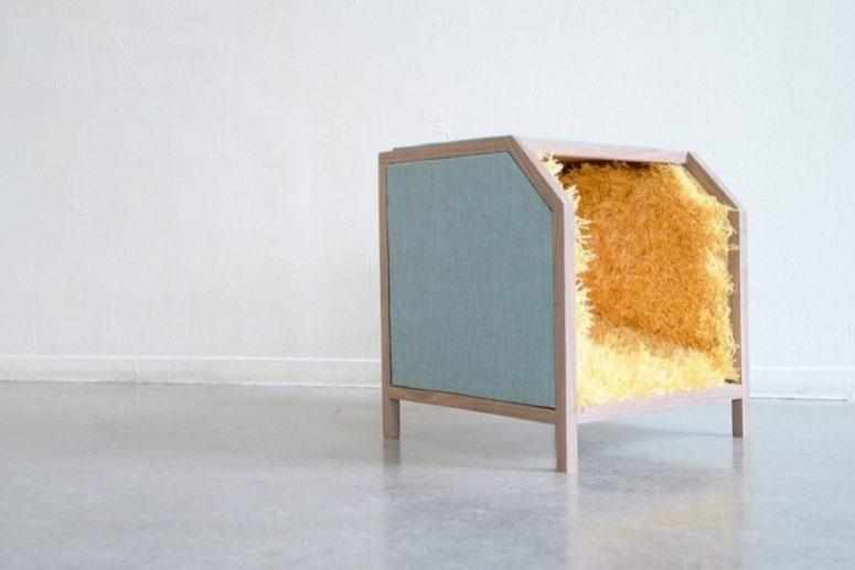 Kreativ lådstol med matta för dina fötter - DigsDi