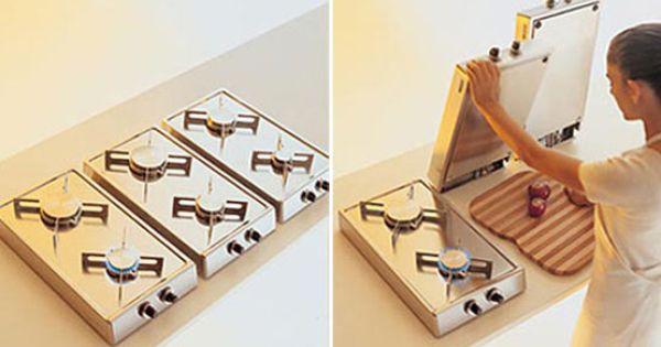 Kreativ Flip Up Spishäll för liten kökslayout av Alpes Inox.
