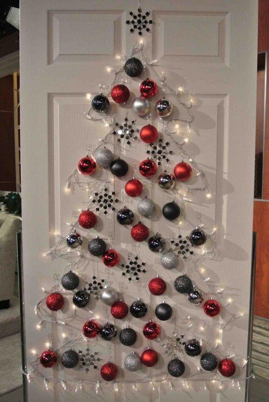Kreativa juldekorationer för små utrymmen |  Vägg jul.