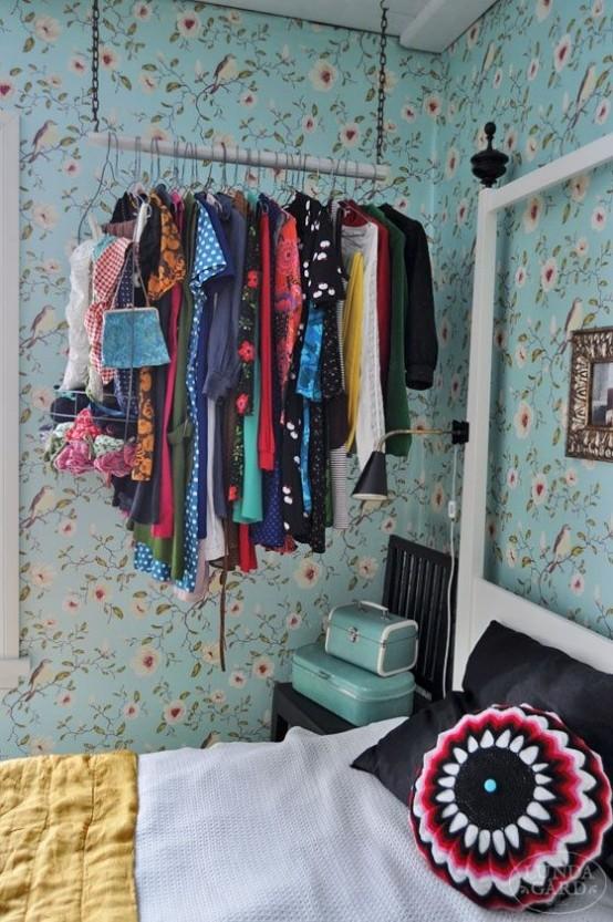 38 Kreativa klädlagringslösningar för små utrymmen - DigsDi
