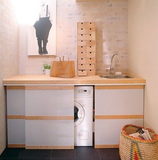 31 kreativa sätt att dölja en tvättmaskin i ditt hem |  Tvätt.