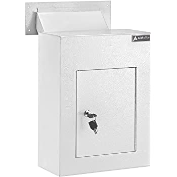 AdirOffice Through The Wall Drop Box Safe (svart / grå / vit.