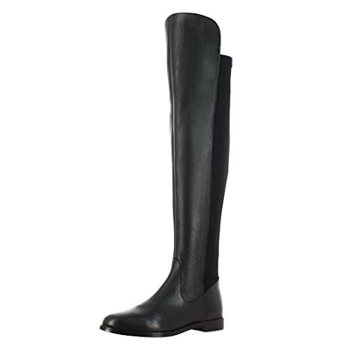Köp Saint G Womens Black Napa Leather Long Boots, Tunit Sole Tall.
