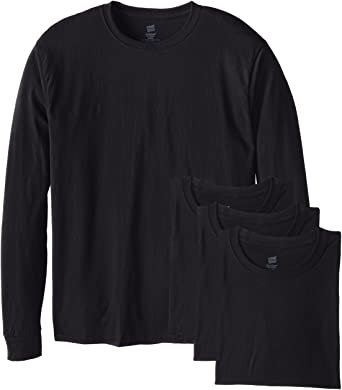 Hanes ComfortSoft T-shirt långärmad herr (4-pack) |  Amazon.c