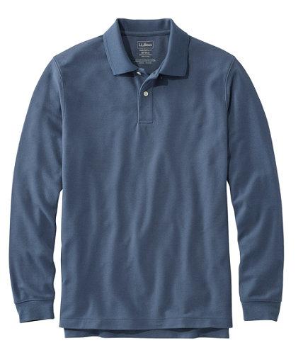 Premium Premium L®-polo för män, långärmad utan pock