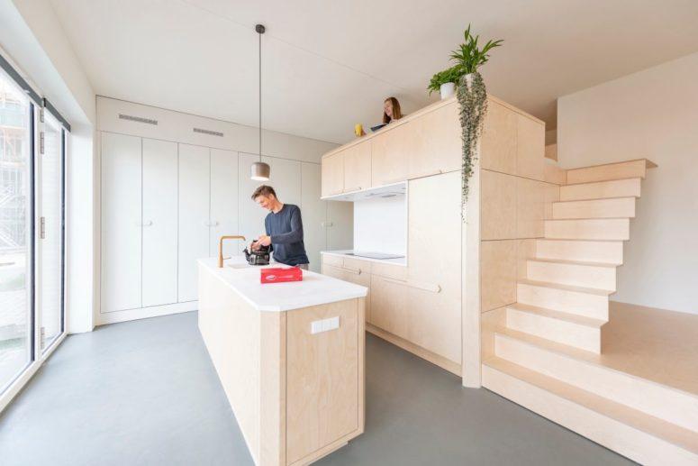 Litet Amsterdam Loft med inbyggda möbler - DigsDi