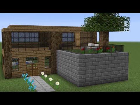 Minecraft - Hur man bygger ett litet trähus - YouTu