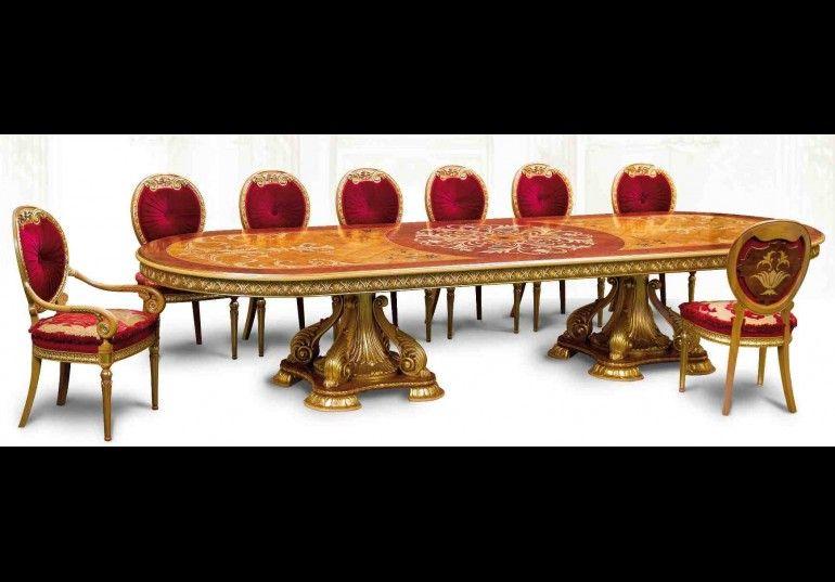 Lyxiga handgjorda möbler.  Empire Style matbord |  Handgjord.
