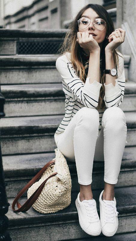 Stil Tips om vad man ska ha på sig med vita jeans - De vita jeansen.