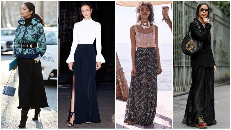Hur man bär en maxikjol för ett snyggt utseende - Trendspott