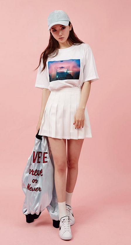 chuu Plisserad minikjol |  YesStyle |  Mini kjolar kläder sommar.