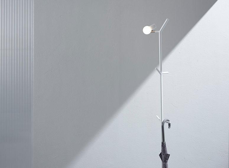 Minimalistisk halllampa inspirerad av en fågel på en gren - DigsDi