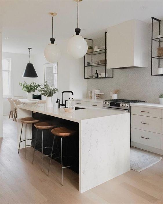 25+ unikt snygga minimalistiska köksöidéer för bedövning.