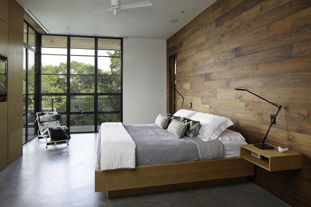 Utmärkta moderna sovrum Moderna sovrum hill country bostad.