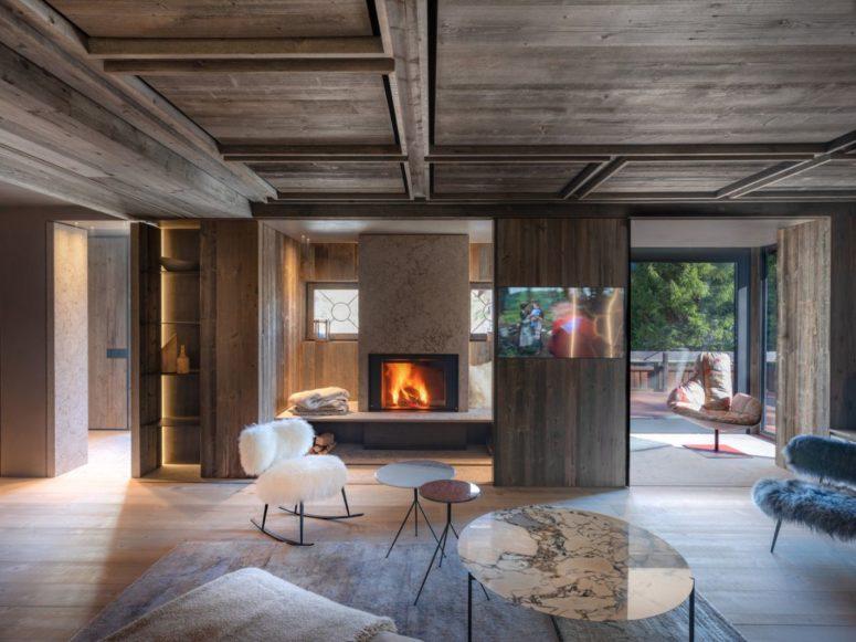 Minimalistiskt hem infunderat med gammalt återvunnet trä - DigsDi