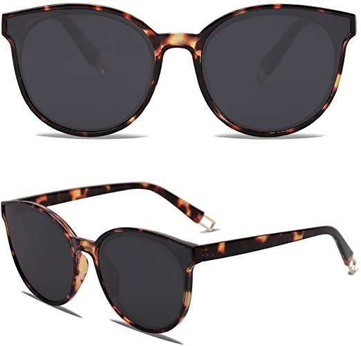 Amazon.com: SOJOS mode runda solglasögon för kvinnor män överdimensionerade.
