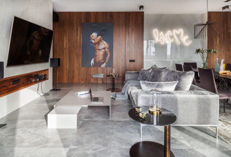 Samtida lägenhet med en touch av Whimsy - DigsDi