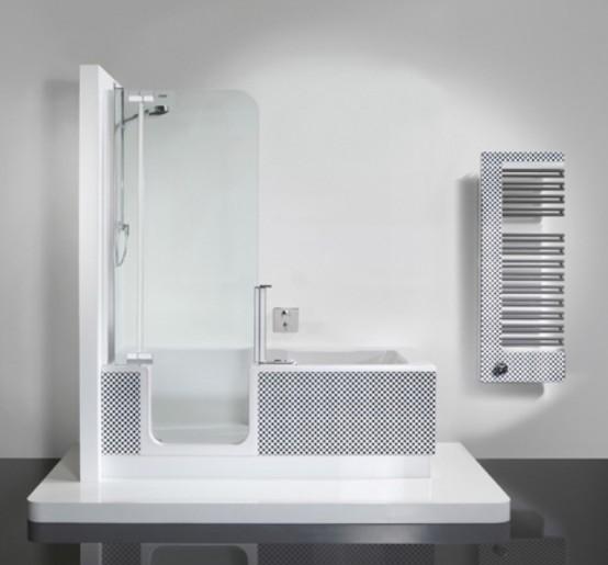 Modern dusch- och badkarenhet i ett - DigsDi