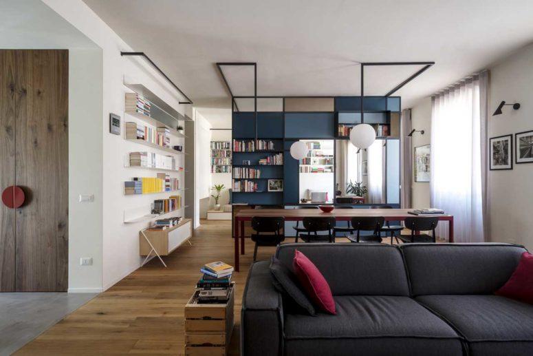 Modern och djärv Torino-lägenhet för en författare - DigsDi