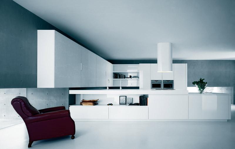 Moderna rena vita köksskåp och tillbehör - Yara från.