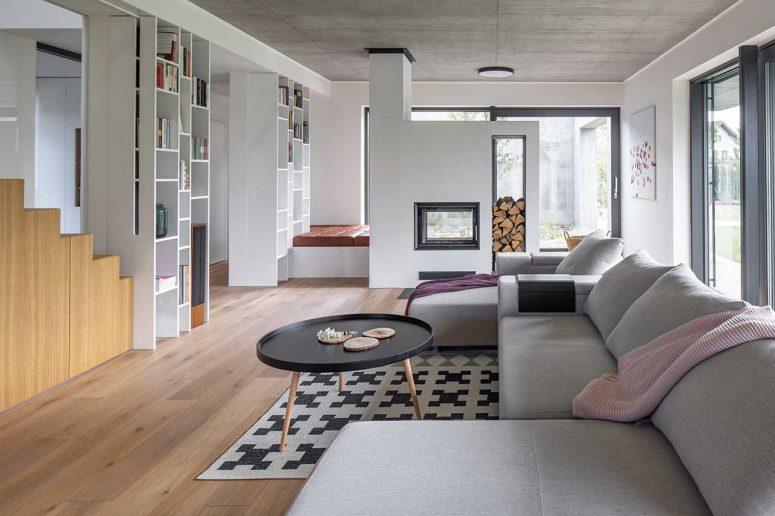 Modernt familjehus med en neutral färgpalett - DigsDi