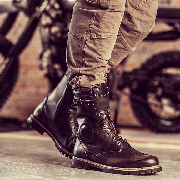 Mäns retro motorcykelstövlar - förtjänar