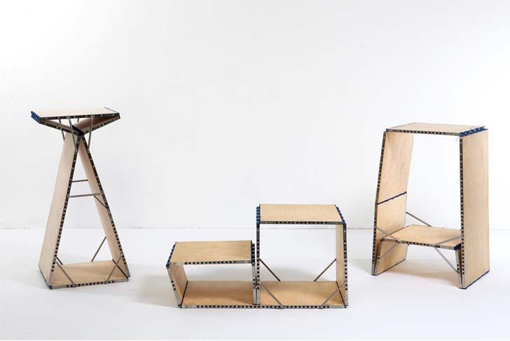 Loop: Multifunktionellt möbel förvandlas till en stol.