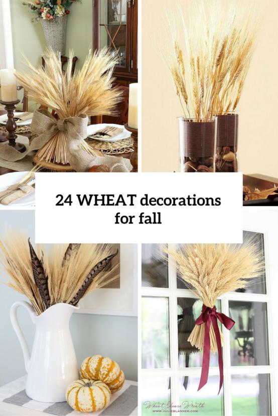 24 Varmt och mysigt för höstvete-ornamenter