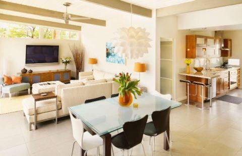 Idéer för planlösning med öppen planlösning - Stor dekoration av rum Ti