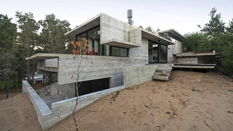 Raw Concrete Home har allt inuti byggt från Concre