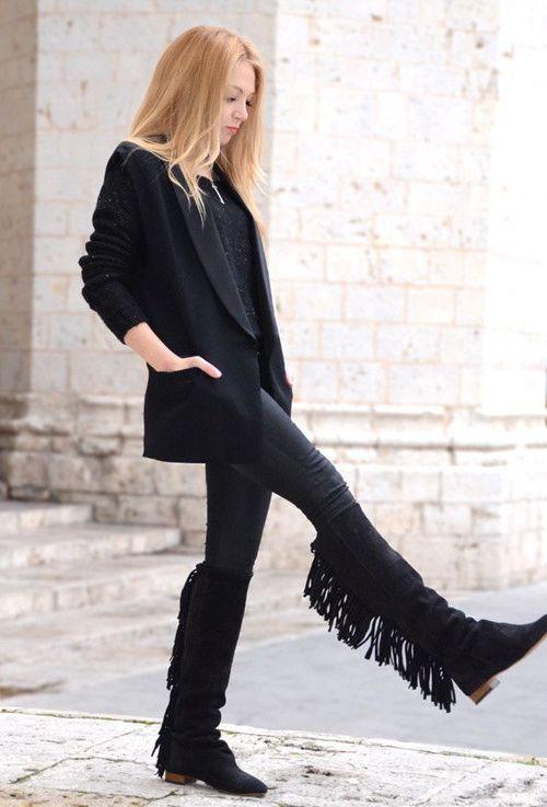 Hur man bär: Randiga stövlar för kvinnor 2020    FashionGum.c
