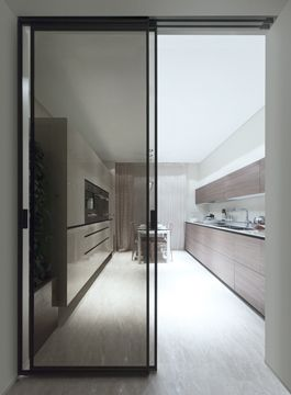 Marina Palas    Lägenheter Rimadesio: skjutdörrssystem, vardagsrum.