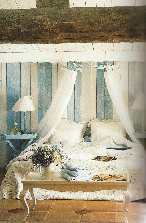 29 romantiska och vackra Provence sovrumsdesignidéer - DigsDi