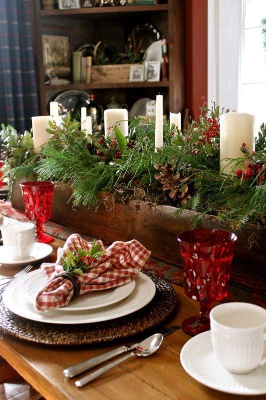 Vackra # jul # Dekor.  Älskar #Rustic mittpunkten.  Söt.