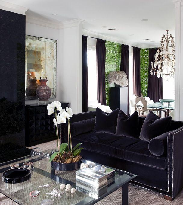 älskar allt om detta rum 2020 |  Sammet soffa vardagsrum.