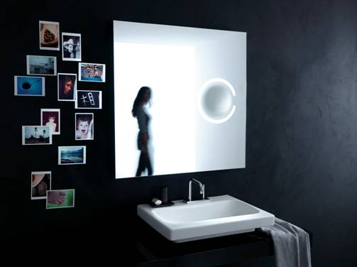 Samtida speglar med förstoringsglas från Ideal Standard - DigsDi