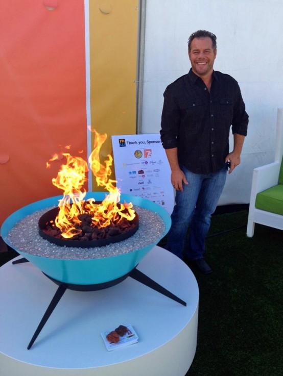 Sculptural Astrofire Outdoor Fire Bowl - DigsDi