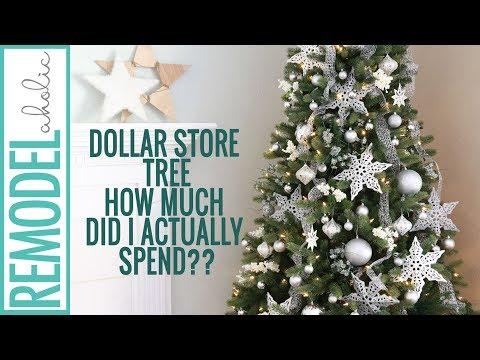 Dollar Store Julgransdekorationshandledning;  Silver och vit.