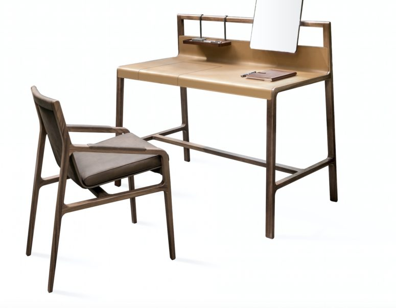 Lyxigt skrivbord och stol med en retro känsla - DigsDi