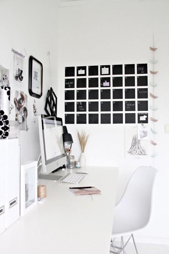 32 Inredningsidéer för smarta svarta tavlor - DigsDi
