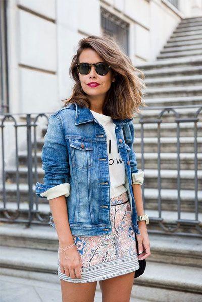 40 snygga idéer för jeansjacka för vår |  Mode, snyggt.