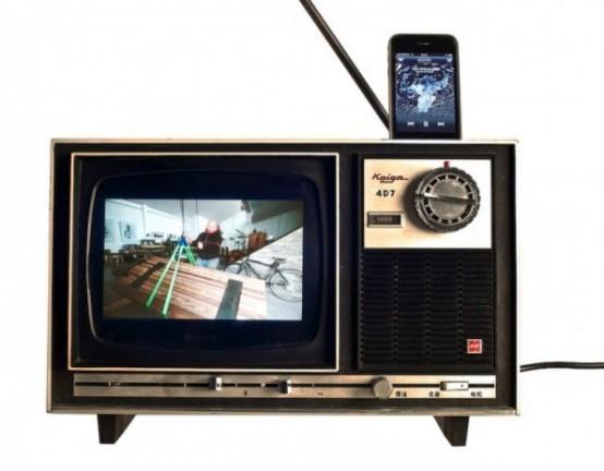 Snygg gammal TV iPhone Dock - DigsDi